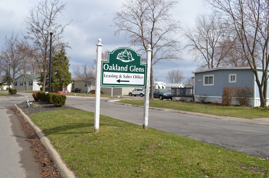 Novi police were dispatched to the Oakland Glens mobile home community early Sunday morning and found a deceased woman.