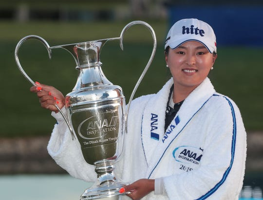 Jin Young Ko is the winner of the ANA Inspiration at Mission Hills Country Club in Rancho Mirage, April 7, 2019.