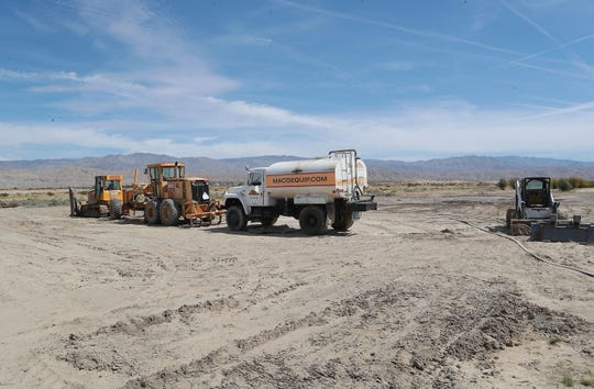 The Coachella Valley Bridge Foundation is breaking ground on a new building that will be located adjacent to the Xavier College Prepatory High School in Palm Desert, April 8, 2019.