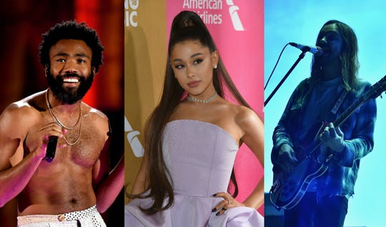 (Left to right) Childish Gambino, Ariana Grande and Tame Impala are set to headline the 2019 Coachella Valley Music and Arts Festival.