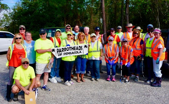 Parrot Heads of Pensacola at their 17th road clean-up.