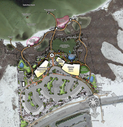 The master plan for the future Gulf Coast Discovery Center includes areas for teaching, animal exhibits, a salt marsh, student centers and more. Plans for the center have been put on hold as the county looks to redirect RESTORE funding to wastewater treatment plants in Navarre and Milton.