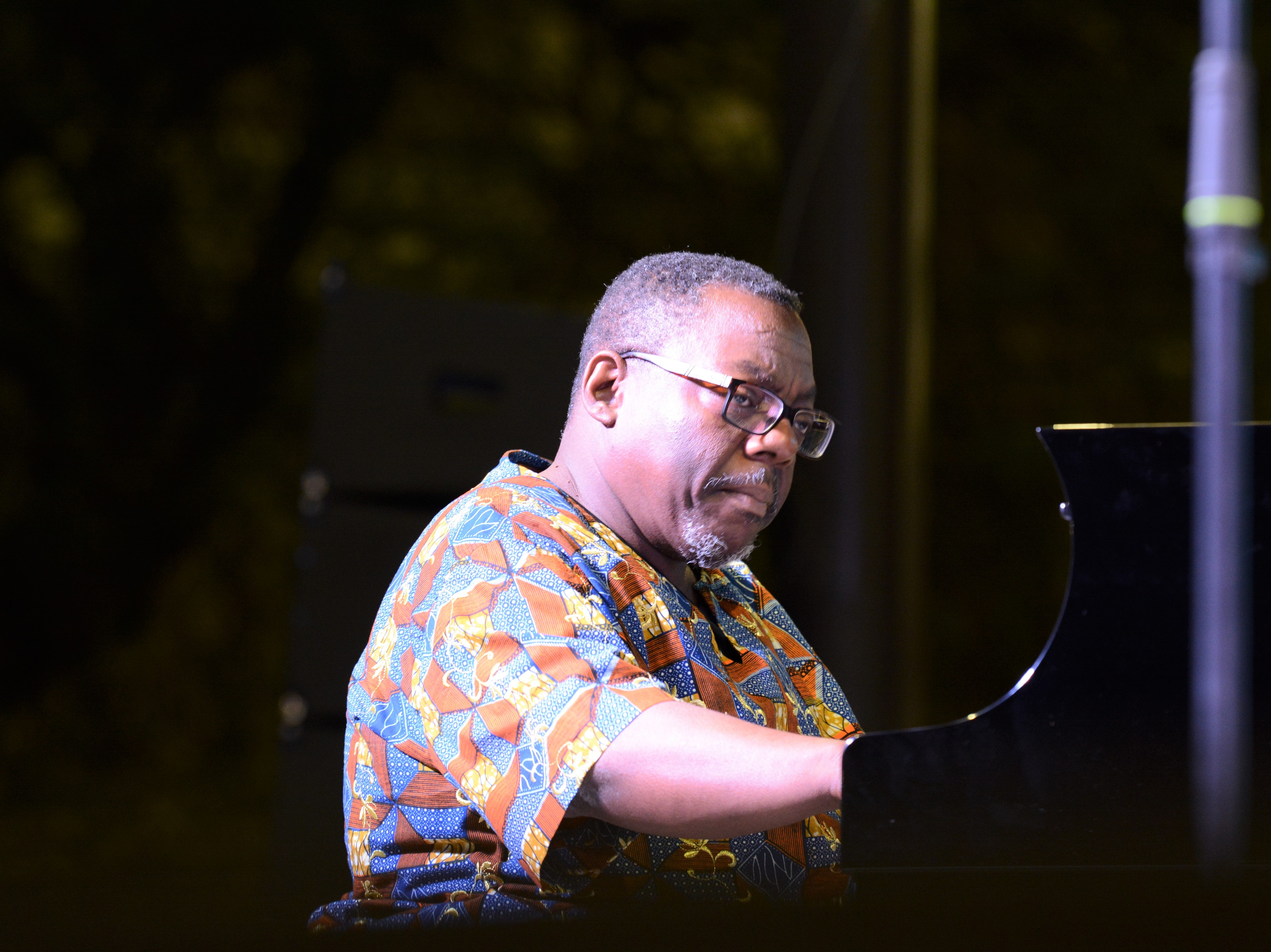 Pianist Cyrus Chestnut performs with the Dizzy Gillespie All-Star Band at the Chandler Jazz Festival on April 6, 2019.