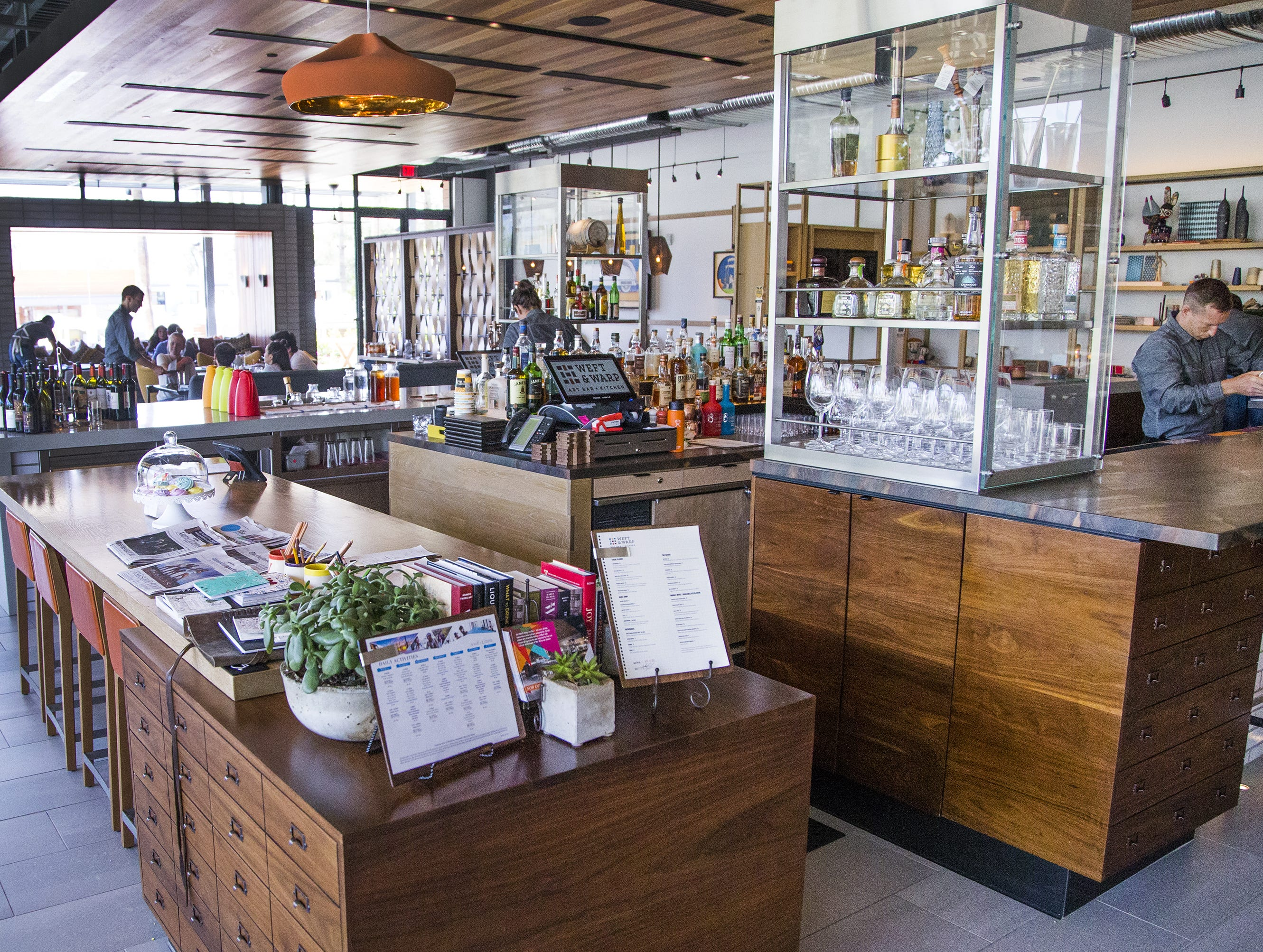 WEFT & WARP ART BAR + KITCHEN, ANDAZ SCOTTSDALE RESORT & BUNGALOWS | The resort's signature restaurant will serve brunch ($75, $35 for ages 7-12) from 11 a.m.-3 p.m. with highlights including slow roasted prime rib, citrus wheat berry salad and raspberry coconut eclairs.DETAILS: 6114 N Scottsdale Rd, Scottsdale. 480-214-4622, hyatt.com.