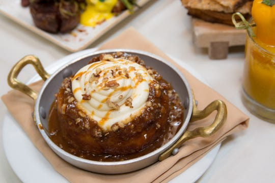 LON'S, THE HERMOSA INN | A three-course brunch ($79) will be served 9 a.m.-2:30 p.m. and kick off with choice of starters such as smoked Scottish salmon or a poached shrimp andDungeness crab salad. Entrée options include Maine lobster;leek, spinach and ricotta quiche; fried Petaluma chicken breast;grilled beef tenderloin;braised lamb shank;blue crab Benedict; and roasted Alaskan halibut. Key lime cheesecake is among the dessert offerings. A skillet of the restaurant's signature brioche monkey bread is included. Reservations required.DETAILS: 5532 N. Palo Christi Road, Paradise Valley. 602.955-7878, hermosainn.com.