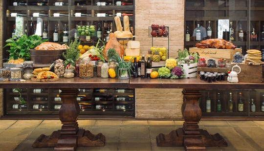 The brunch display at the Royal Palms Resort and Spa.