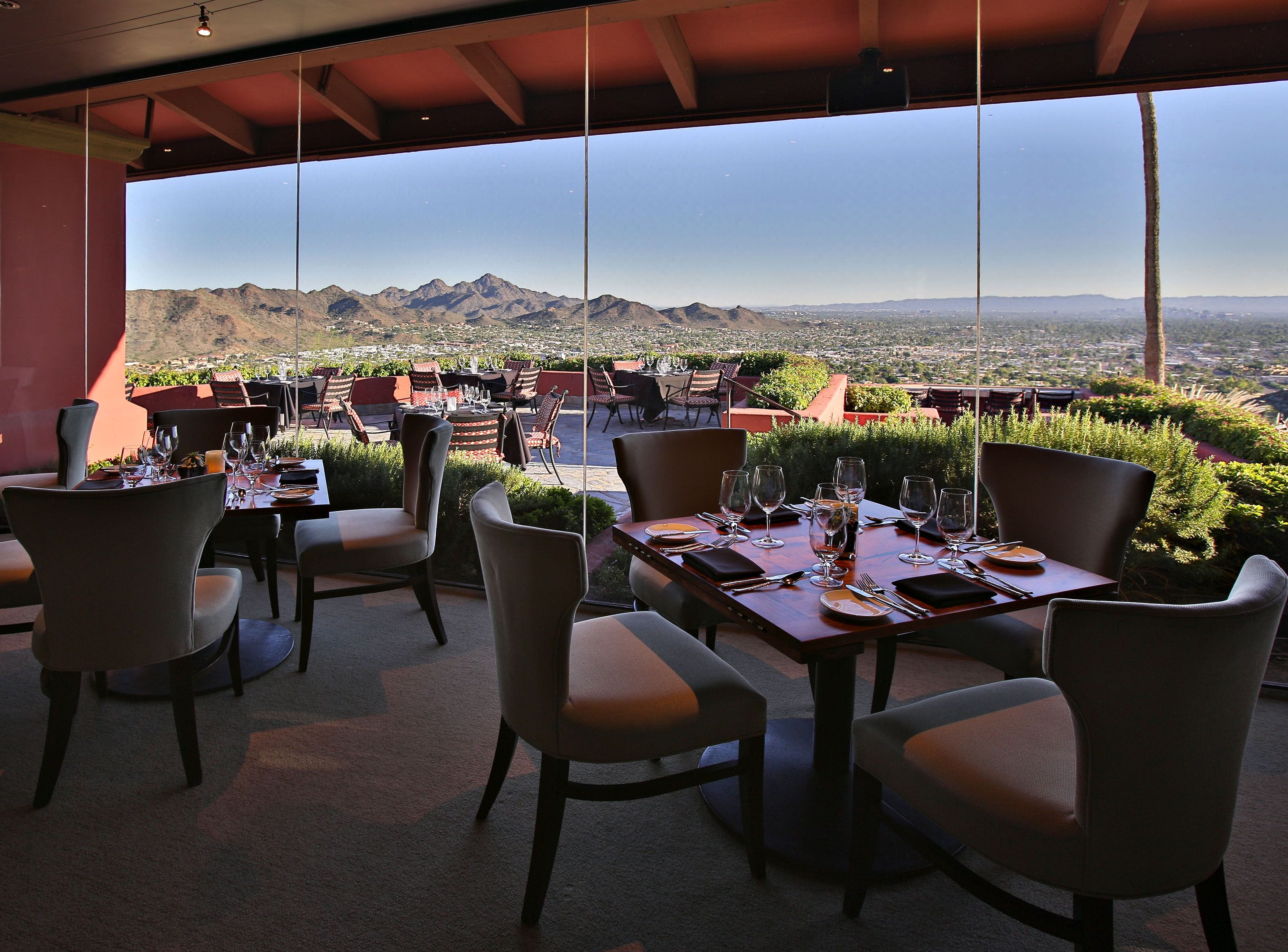 DIFFERENT POINTE OF VIEW, POINTE HILTON TAPATIO CLIFFS RESORT | Brunch ($69.95, $44.95 for ages 10 and younger) will feature carving stations with slow-roasted aged prime rib and roasted lamb top rounds, hot entrées, seafood, salads, sides and desserts. Reservations required. DETAILS: 11111 N. Seventh St., Phoenix. 602-866-6350 ext. 7200, tapatiocliffshilton.com.
