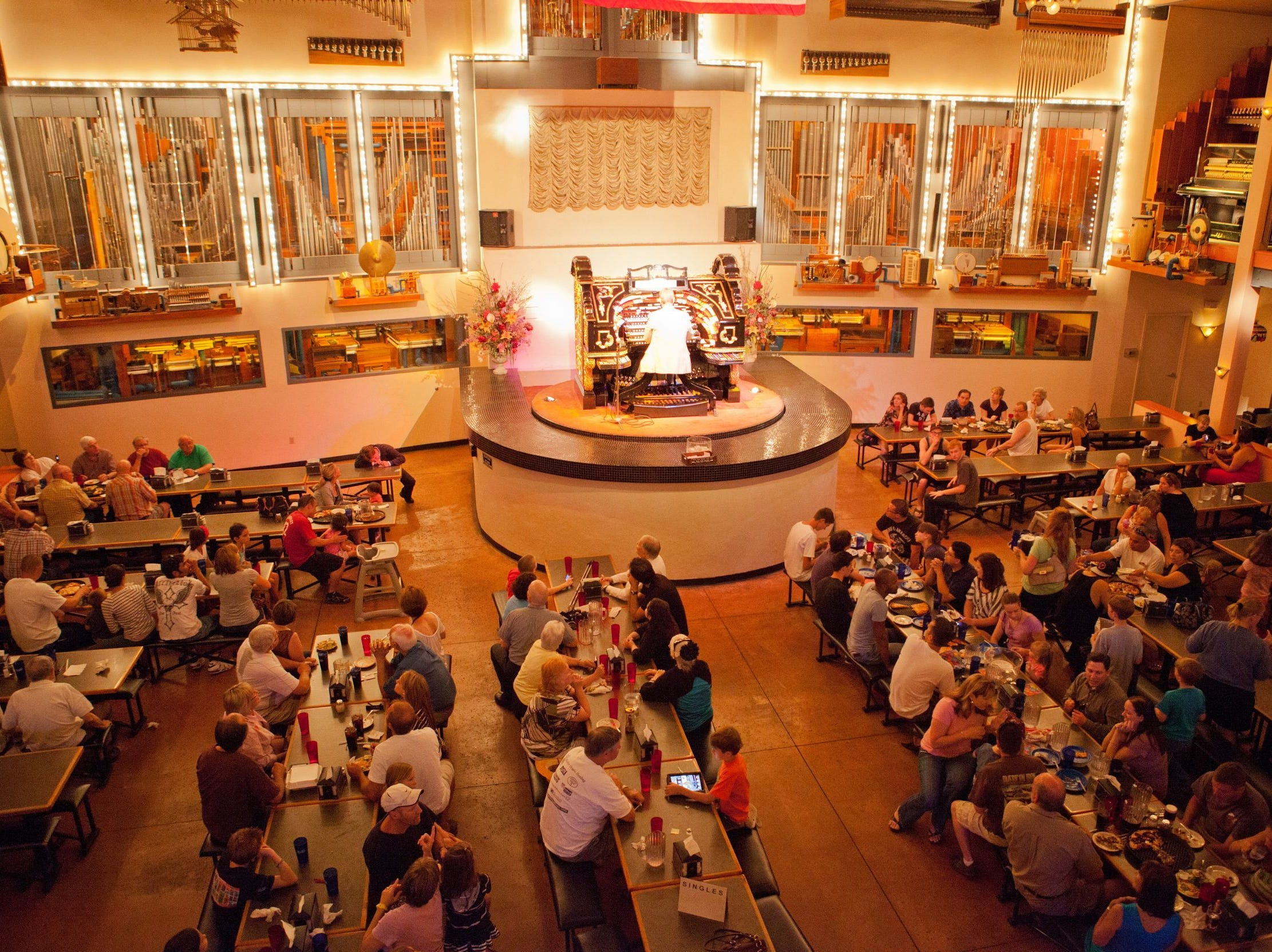 ORGAN STOP PIZZA | The popular Easter Musical Lunch with the Mighty Wurlitzer concert includes all-you-can-eat pizza, salad and unlimited soft drinks ($12, $10 for ages 9 and younger). Doors open at 11:15 a.m. and the show starts at 11:45 a.m. Advanced ticket purchase is required.DETAILS: 1149 E. Southern Ave., Mesa. 480-813-5700, ext. 945, organstoppizza.com.
