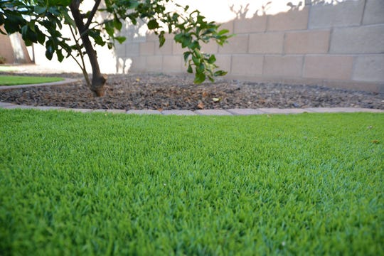 Artificial grass can save thousands of gallons of water a month.