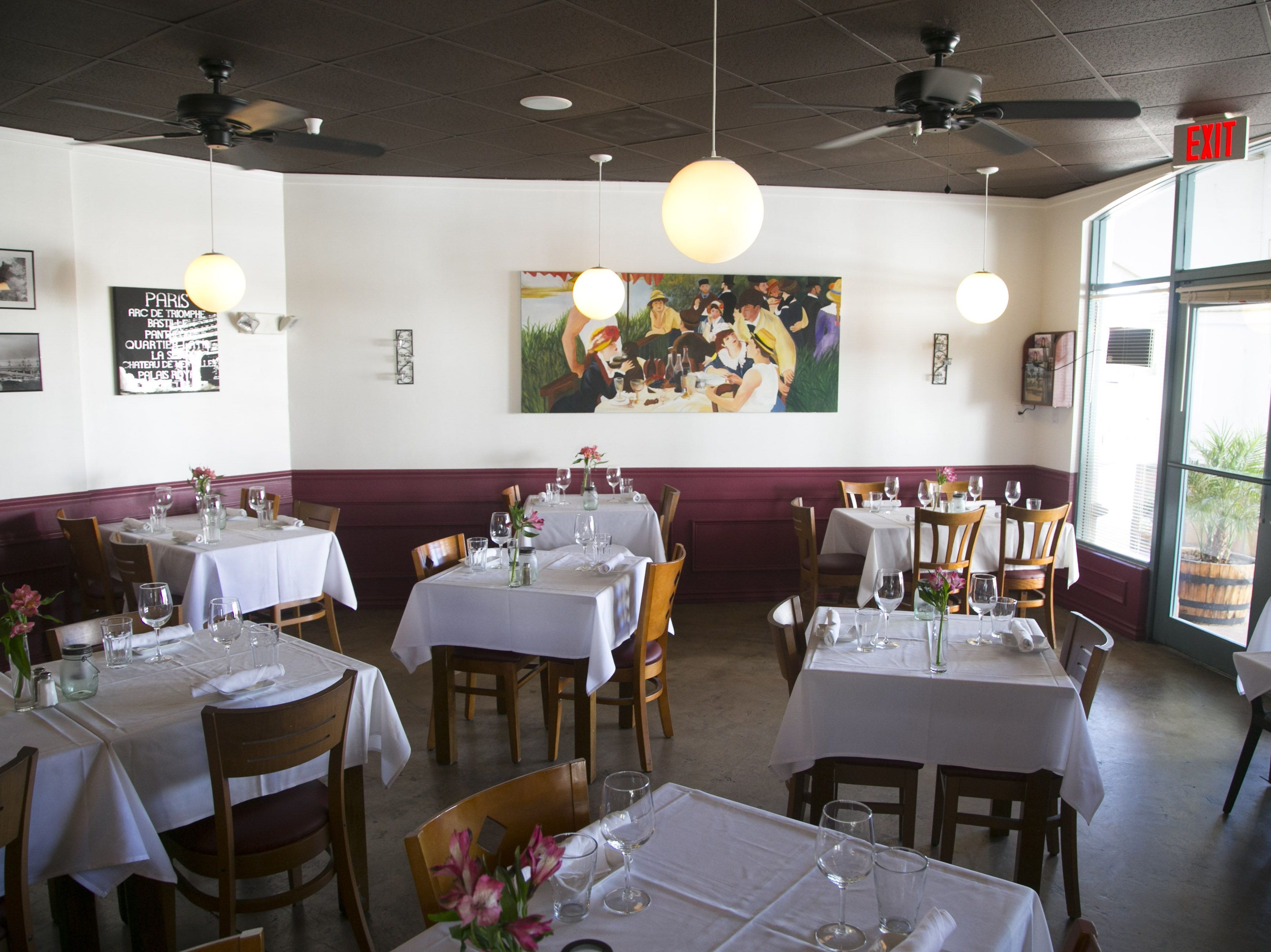 VOILA FRENCH BISTRO | A three-course prix fixe menu ($49) will be served 10 a.m.-1:45 p.m. and include a choice of champagne, mimosa, red wine or white wine. Burgundy snails with parsley butter andgarlic and a nicoise salad are among starter options. Entrée choices include quiche Lorraine, croque madame, eggs Benedict, eggs Florentine and beef bourguignon. Crème brûlée will be served for dessert. For ages 12 and younger, a two-course menu ($20) will be available.DETAILS: 10135 E. Via Linda Road, Scottsdale. 480-614-5600, voilafrenchbistro.com.