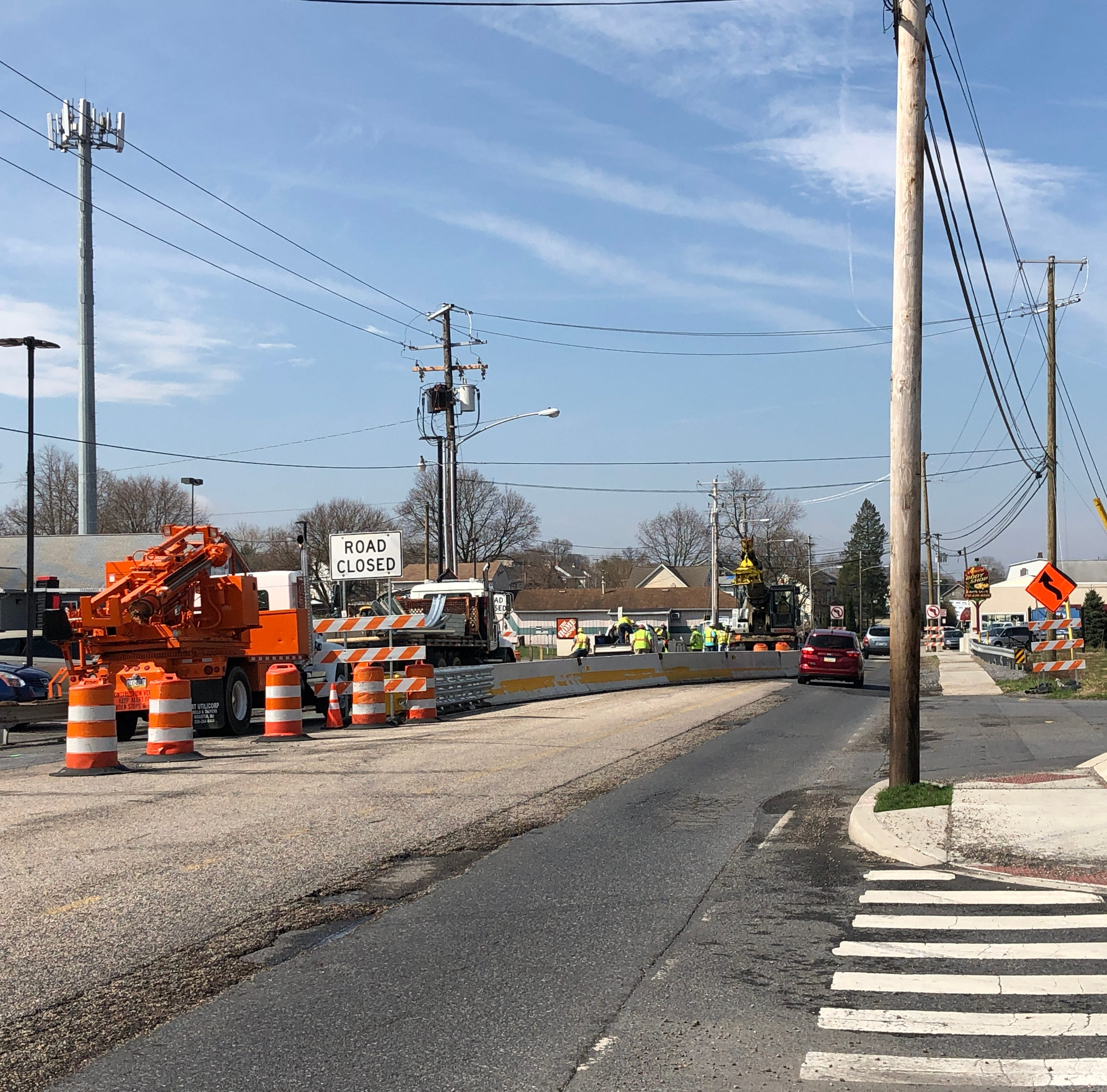 Delayed for months by bad weather, Cumberland Street bridge construction nears finish line