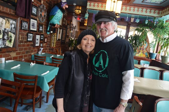 Gayle and Rock Stevens stand together in their restaurant, the Atrium Cafe and Ice Cream Parlor, five years ago in Port Huron. Rock Stevens passed away Saturday, April 6, 2019. He was 70.