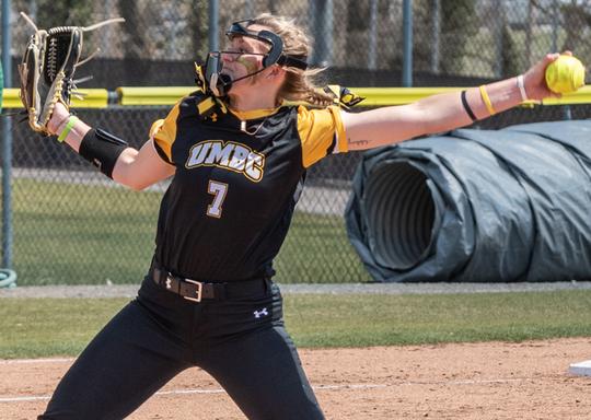 Courtney Coppersmith is enjoying a stellar freshman season for the University of Maryland Baltimore County softball team.
