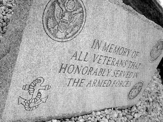 The veterans memorial at North York's Lebanon Cemetery.