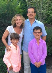 The Levitan family of Pittsford: Mom and Dad Susan and Michael, Max, 10 and Zach, 12.
