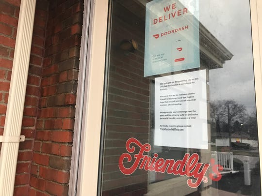 "The Friendly's Restaurant at 2 Spencerport Road closed in April 2019. A sign taped to the front window reads in part, ""We apologize for disappointing you on this visit, but this location is now closed for business."""