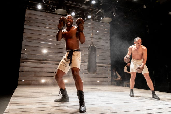 Jamal james (left) and Rochester-raised Dazmann Still in The Royale at Geva.