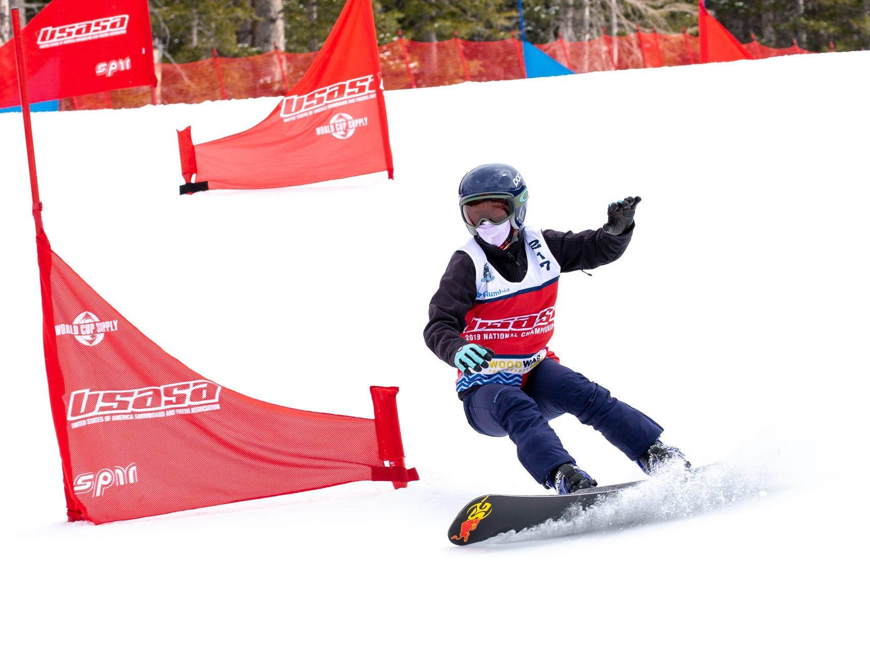 Sage Will of Shasta High / North State snowboarders compete at the 2019 USASA National Championships at Copper Mountain in Colorado.