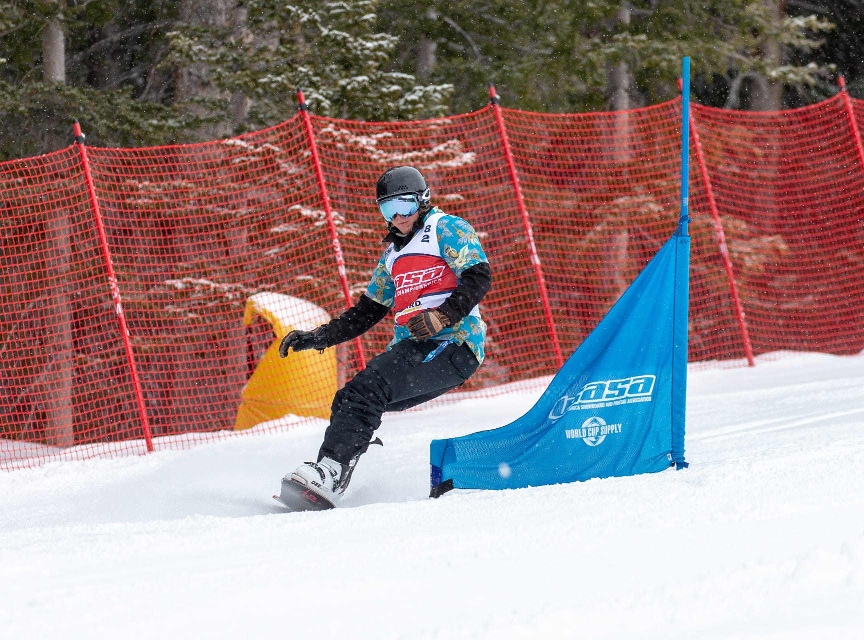 Shasta High grad Marc Speake / North State snowboarders compete at the 2019 USASA National Championships at Copper Mountain in Colorado.