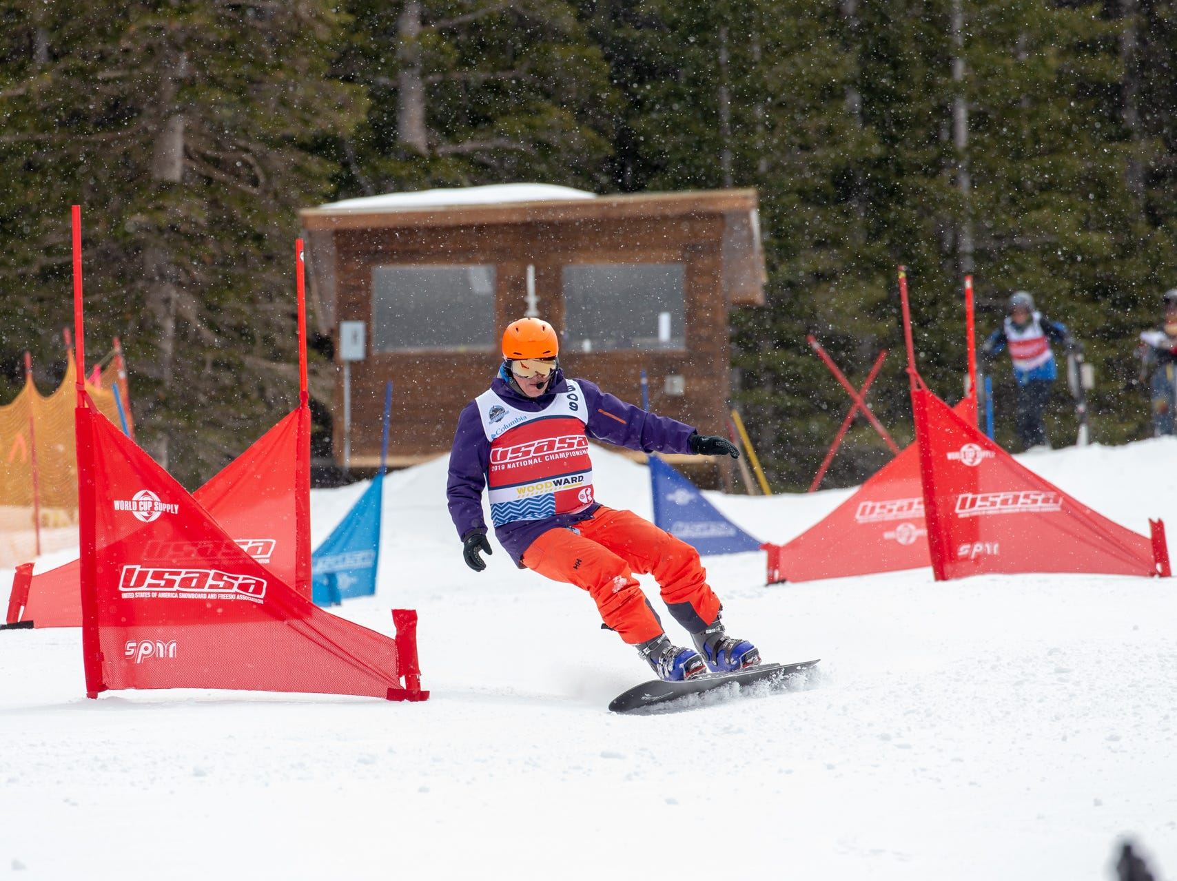 Shasta High coach Paul Schwartz / North State snowboarders compete at the 2019 USASA National Championships at Copper Mountain in Colorado.