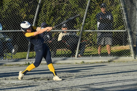 Notre Dame catcher Angelita Fuentes went 5 for 6 with two RBI over two games last week.