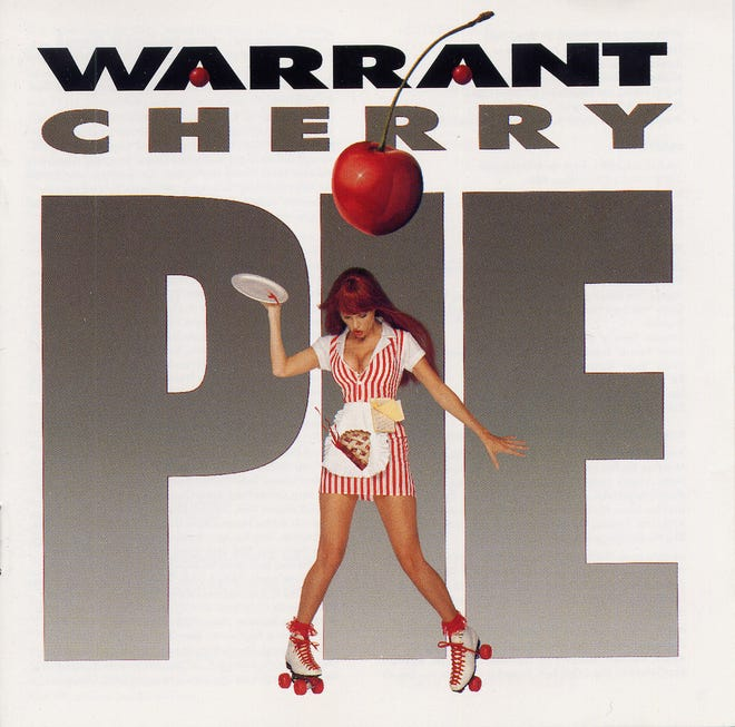 "Cover art for 1990 hit ""Cherry Pie"" by Warrant."