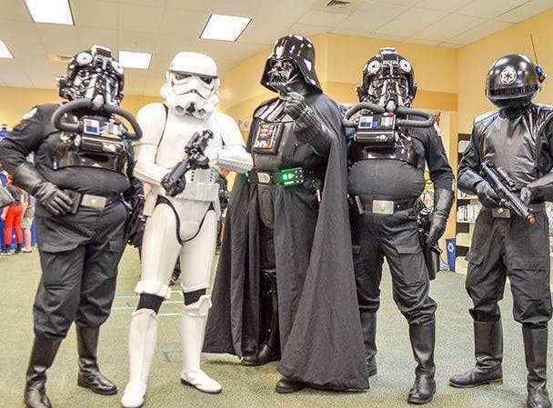 The Sienar Fleet Squad, a non-profit Star Wars cosplay group, will be at the Eastern Shore Comicon in Cheriton, Virginia on Saturday, April 20, 2019.