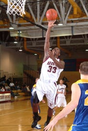 Jareem Dowling takes a shot as a member for the University of Maryland Eastern Shore men's basketball team.