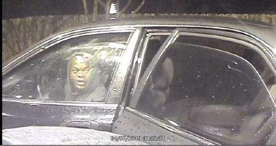Suspects believed responsible for an ATM theft are seen on surveillance April 7.