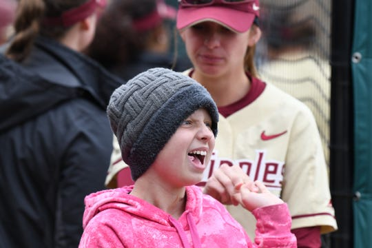 Hayden Stone has quickly made herself part of the FSU softball family since her February adoption.