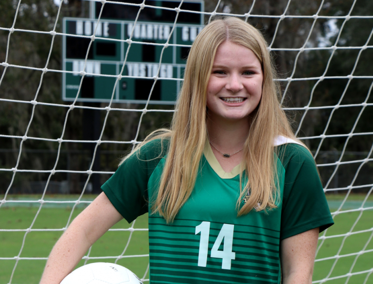 Lincoln senior forward McIver Levy was named to the 2019 All-Big Bend girls soccer first team and selected as the Player of the Year.