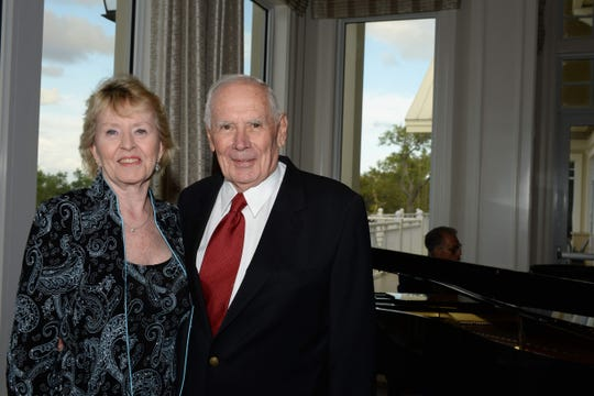 Lotus Society Award recipients Nancy and Dick Cassell at the 2019 Sage Awards at Harbour Ridge Yacht and Country Club in Palm City.