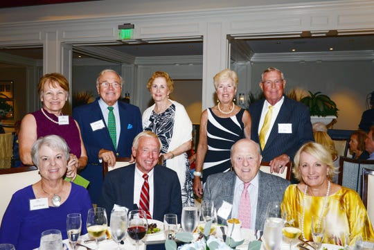 Linda Williams, standing, left, Rick Casali, Ann Casali, Suzanne Boehmcke and Don Boehmcke, with, seated, Susan Bender, Ewald Bender, Joseph Day and Ann Day at the 2019 Sage Awards in Palm City. Joseph and Ann Day were presenting sponsors of the event.