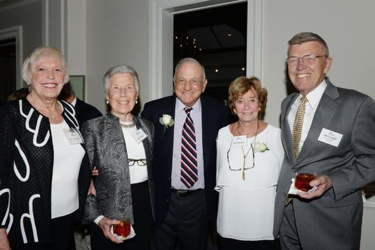 Rita May Wright, left, Jan Crandall, Sage Award nominees Bob and Carol Weissman and Bob Crandall at the 2019 Sage Awards at Harbour Ridge Yacht and Country Club in Palm City.