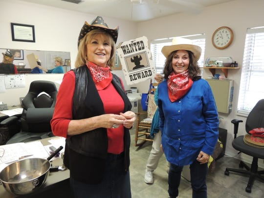 Sharon Knowles, left, and Susan Simmens prepare for the 2019 All American Country BBQ Bash at St. Francis Manor from 5 to 8 p.m. April 27 in Vero Beach.