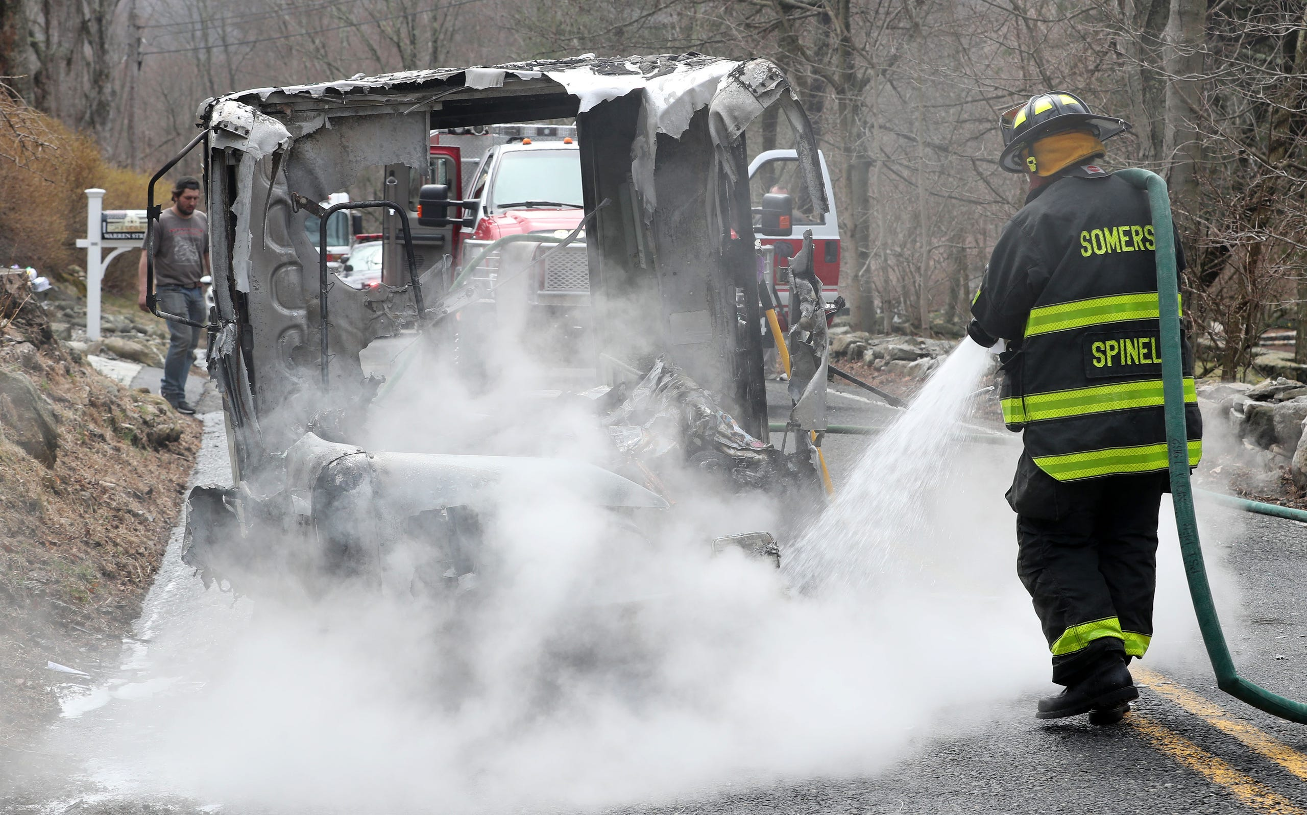 Somers Mail Truck Fire