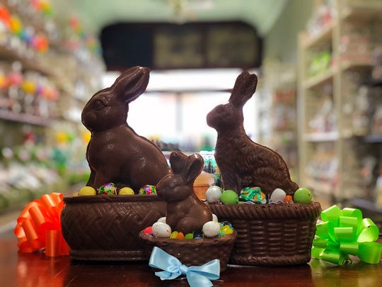 Some of the edible Easter basket options at Lucas Candies in Haverstraw.