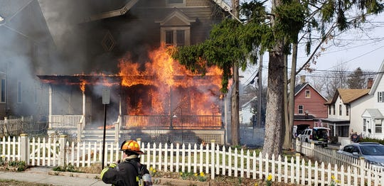 A house fire in Nyack today.