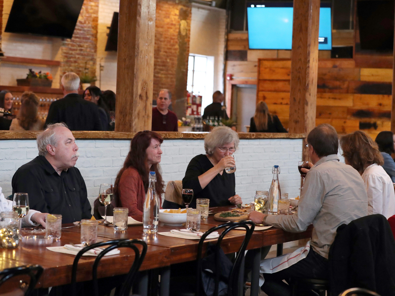 Dinner with Jeanne at Hudson's Mill Tavern in Garnerville April 4, 2019.