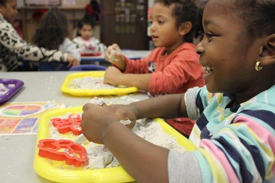 Children at the Lois Bronz Children's Center in Greenburgh.