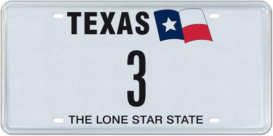 Texas' vendor for personalized and specialty license plates, MyPlates.com, is auctioning off the last available single-digit number and letter license plates in the state.