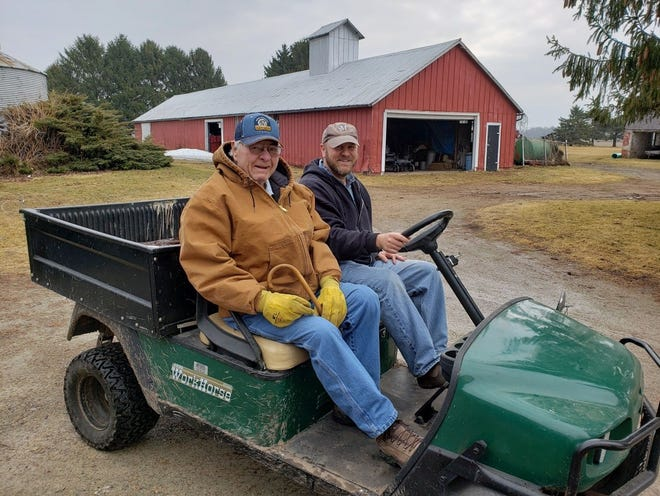 Bob and Russ going for a ride.