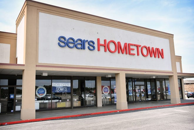 A file photo of a Sears Hometown storefront. The Sears Hometown Store in Marshfield will close July 27, 2019.