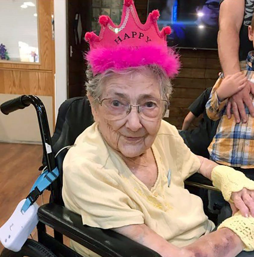 Rose Marie Bentley, shown here in an undated photo near the end of her life, apparently lived 99 years without knowing she had a rare anatomical condition called situs inversus with levocardia.