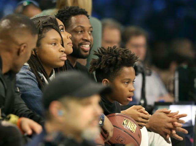 Dwyane Wade, Gabrielle Union support son Zion at gay pride parade