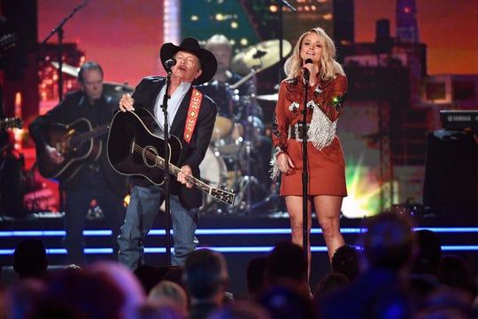 "George Strait and Miranda Lambert tag-teamed his song ""Run."""