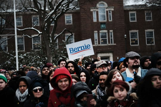 Brooklyn College rally for Sen. Bernie Sanders on March 02, 2019.