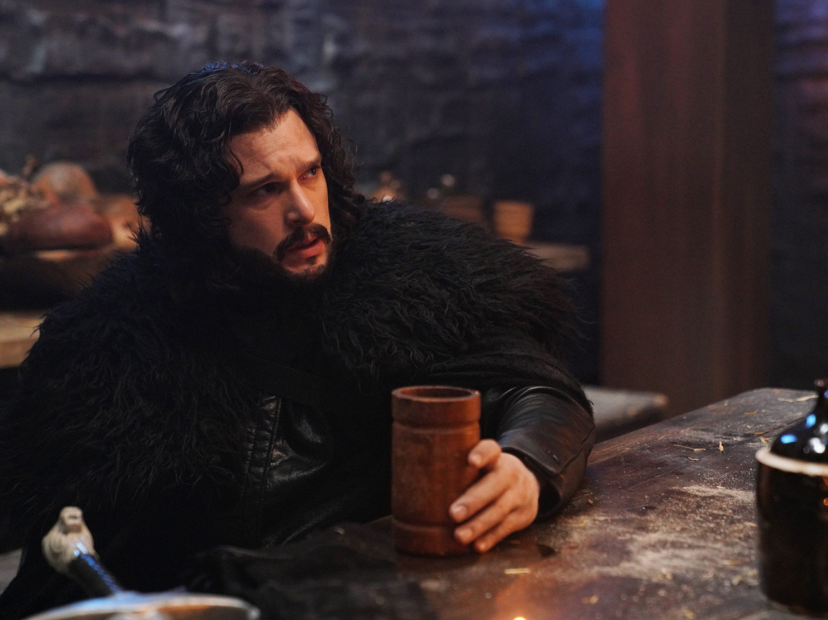 "Host Kit Harington played Jon Show, his ""Game of Thrones"" character, in an ""SNL"" short spoofing potential ""Thrones"" spinoffs."