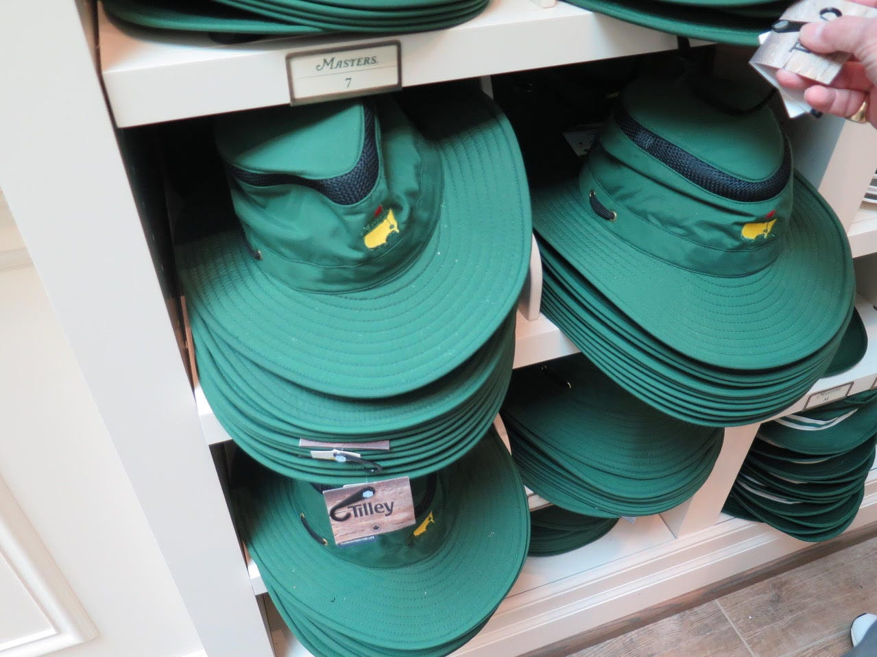 Tilly sun hat: $95 – For the teaching pro in your life, the classic sun hats return with a new Tilley brand offering in green. They have a lifetime guarantee and that breathability, not to mention a perfect Masters green.