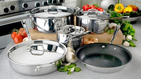 This stainless steel set will last a lifetime.
